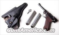 1920 DWM POLICE GERMAN LUGER RIG W/ 2 MATCHING NUMBERED # MAGAZINES