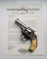 SMITH & WESSON NEW DEPARTURE MODEL ENGRAVED.32 HAMMERLESS FIRST MODEL - COLLECTOR CONDITION