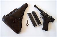 1938 S/42 NAZI GERMAN LUGER RIG W/ 1 MATCHING # MAGAZINE
