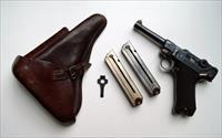 1918 ERFURT MILITARY GERMAN LUGER RIG W/ 2 MATCHING # MAGAZINE