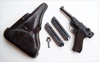 1940 CODE 42 NAZI GERMAN LUGER RIG W/ 1 MATCHING # MAGAZINE