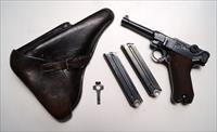 1937 S/42 NAZI GERMAN LUGER RIG WITH 2 MATCHING # MAGAZINE