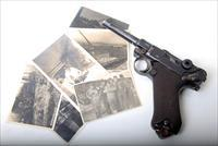 1916 DWM MILITARY GERMAN LUGER W/ WWII PICTURES