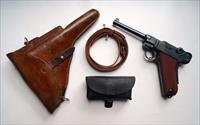 1929 SWISS BERN MILITARY LUGER RIG WITH REG GRIPS