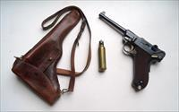 1900 DWM SWISS COMMERCIAL GERMAN LUGER RIG - MINT CONDITION