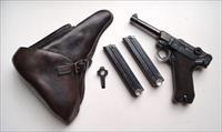 1939 CODE 42 NAZI GERMAN LUGER RIG WITH 2 #MATCHING MAGAZINE