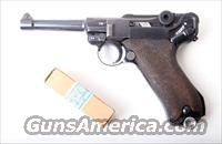 1938 S/42 NAZI GERMAN LUGER /  W/ AMMO