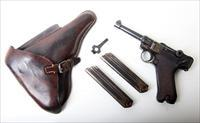 1916 DWM MILITARY GERMAN LUGER RIG W/ 2 MATCHING # MAGAZINES