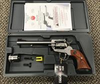 RUGER NEW MODEL SINGLE SIX CONVERTIBLE .22LR/.22 MAGNUM FIBER OPTIC SIGHTS