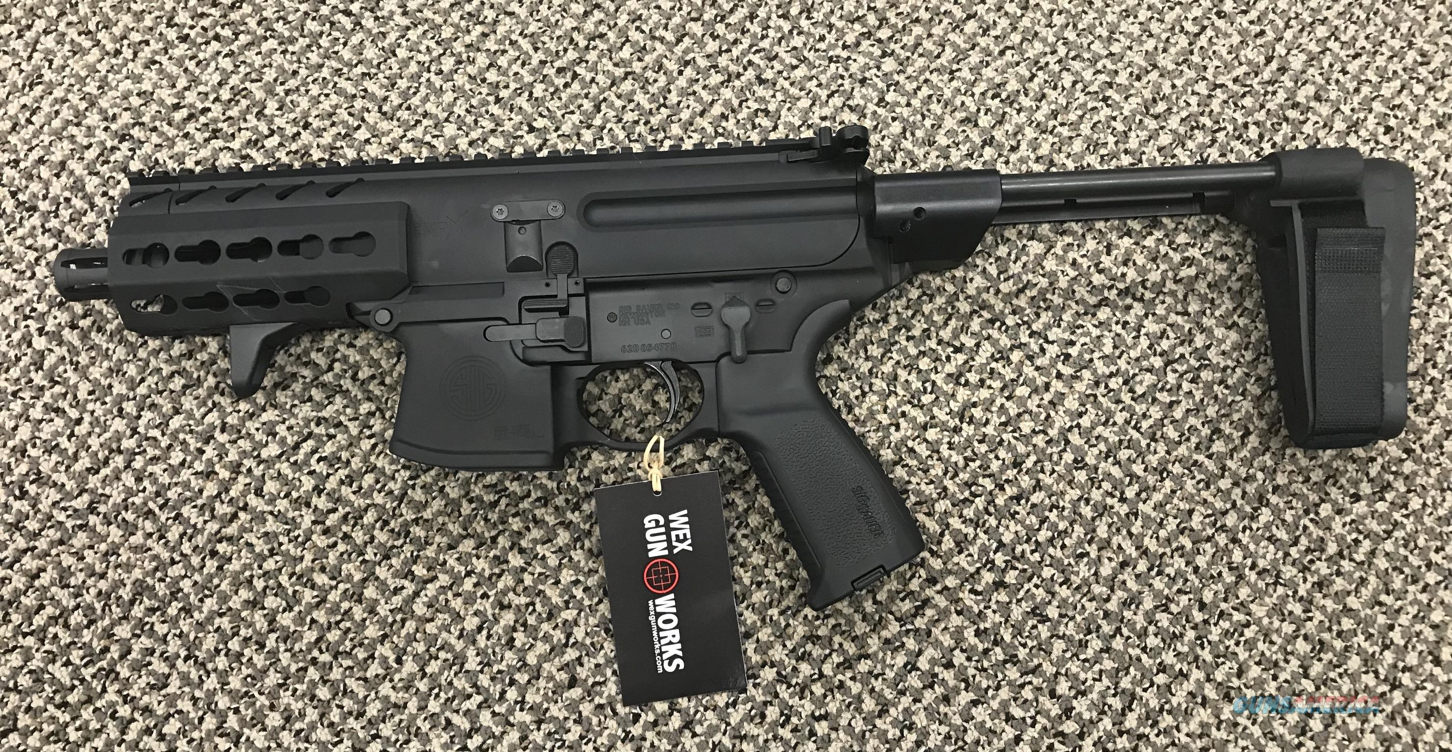 SIG SAUER MPX K 4 5 INCH BBL WITH SB TACTICAL MPX STABLIZING BRACE NEW IN  BOX
