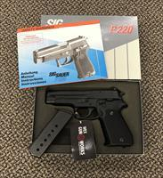 SIG SAUER P220 .45ACP 4 1/4 INCH BBL TWO MAGS BOX PAPERS
