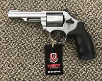 S&W MODEL 66-8 COMBAT MAGNUM .357 6 SHOT BRUSHED STAINLESS 4 3/8 INCH BBL MINT