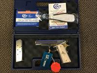 COLT COMMANDER MODEL .45 ACP LEW HORTON EXCLUSIVE HIGH POLISH TOP ENGRAVED SLIDE GOLD ACCENTS NEW IN BOX