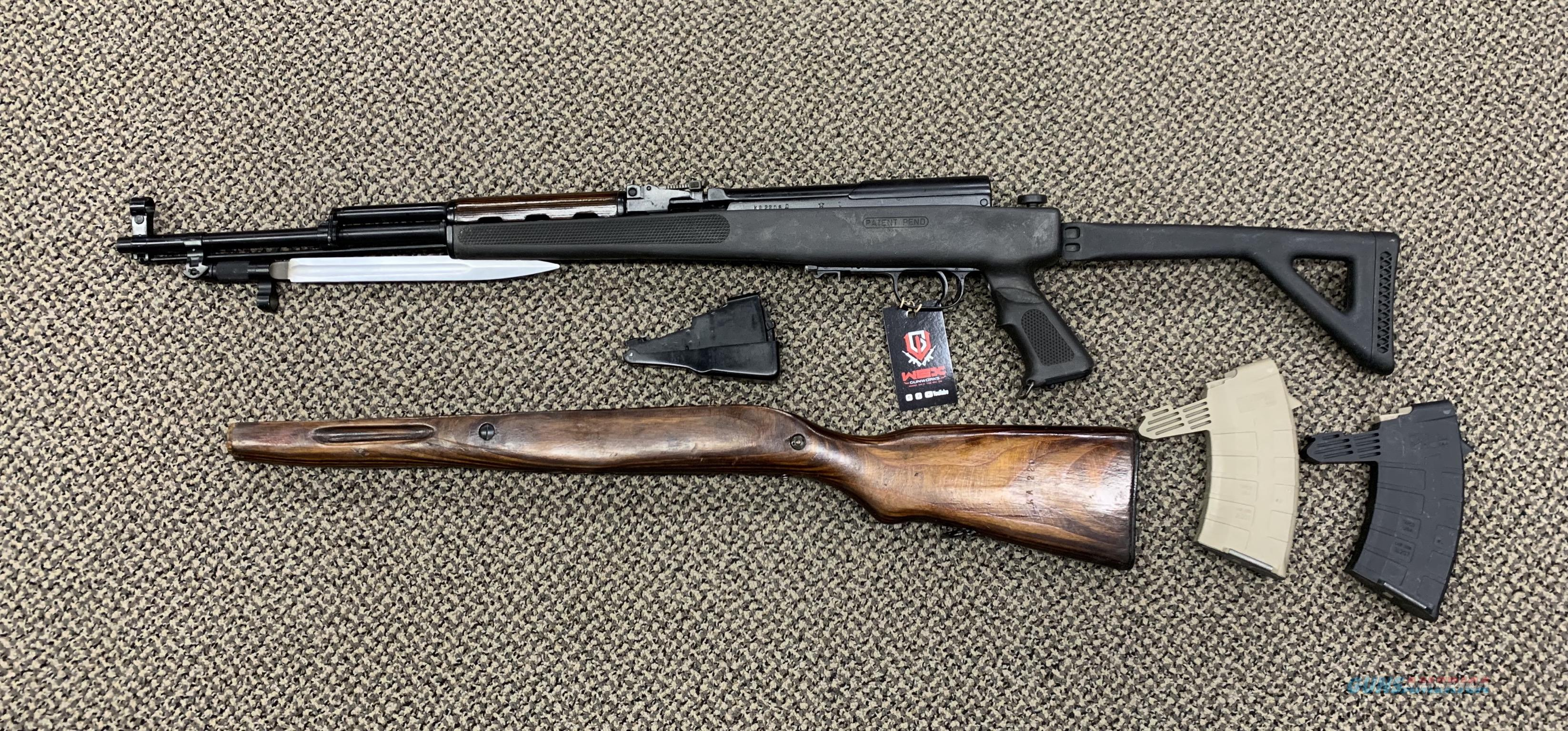 TULA RUSSIAN SKS 7 62X39 ORIGINAL RUSSIAN STOCK AND MAGAZINE