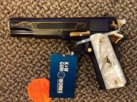 COLT LIMITED RUN TALO GOVERNMENT MODEL .38 SUPER 5 INCH BBL ENGRAVED WITH MOTHER OF PEARL GRIPS NEW IN BOX