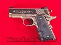 "Colt Lightweight Defender 3"" .45ACP O7000D New CA OK"