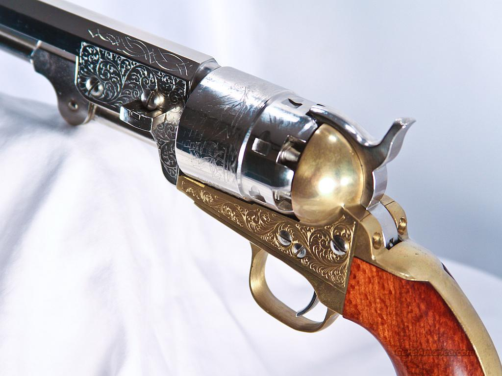 Armi San Marco Engraved Revolver, 44 Black Powd... for sale