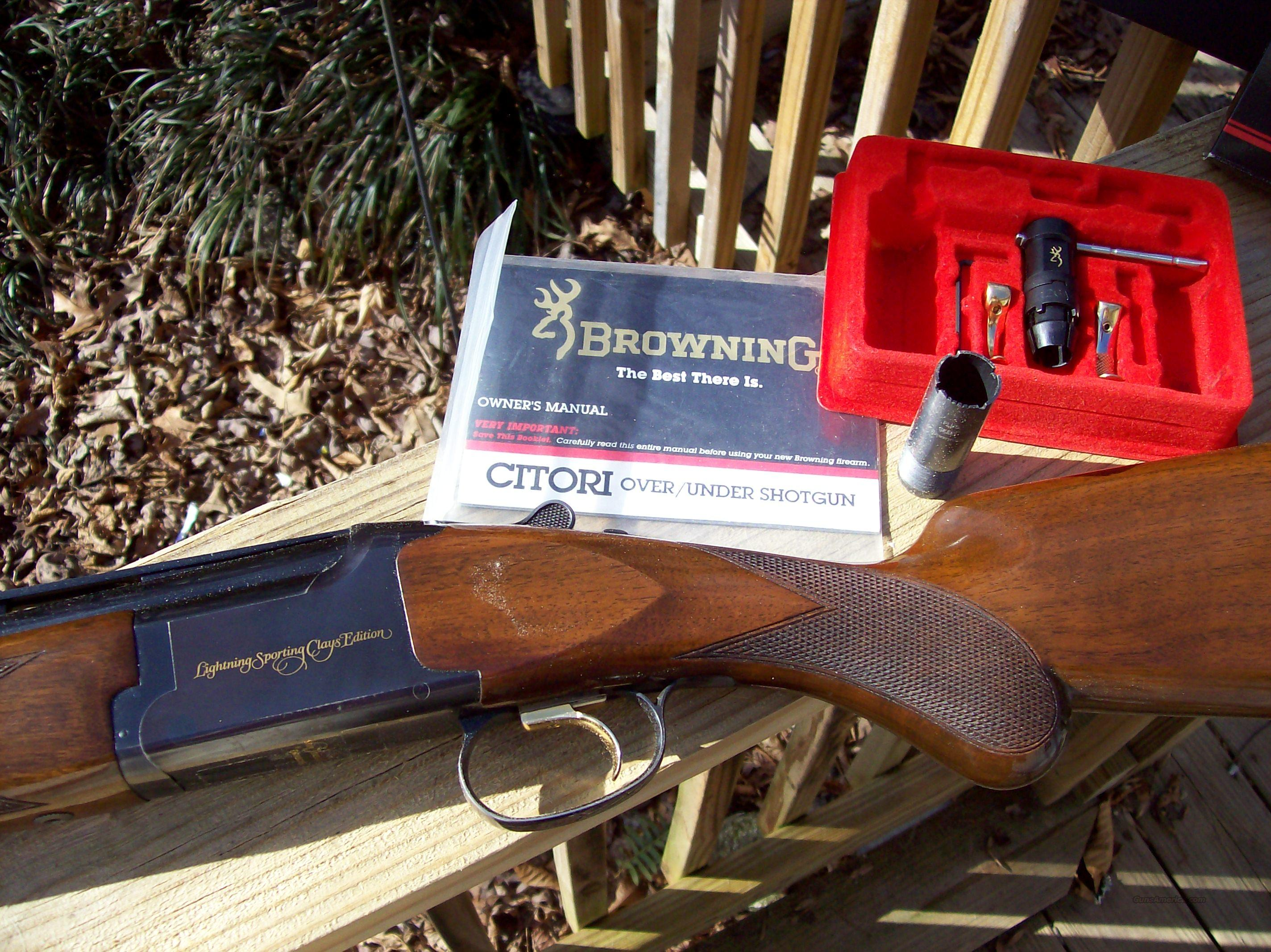 Browning Citori Lightning Sporting Clays Edition