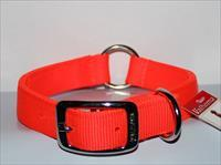 "Dog Collar Nylon Valhoma 2 Ply 18"" X 1"" Reflective And Center Ring 945-18HO"