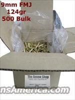 9mm Re-manufactured 124gr FMJ Ammo 500 Bulk Box