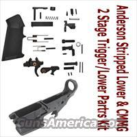 Anderson Manufacturing Stripped Lower 7075-T6 223/5.56mm With CMMG Lower Parts Kit With 2 Stage Trigger