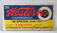 Western 38 Special Center Fire Lubaloy Coated BulletI