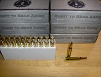 "20 rd boxes of Right To Bear Arms .223 Rem 52gr JHP ""TNT"" SUBSONIC"