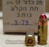 New- 25rd box of Isreali Military issued 9mm Red tipped tracer ammo