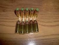 10 rounds of 9mm Green tipped tracer ammo