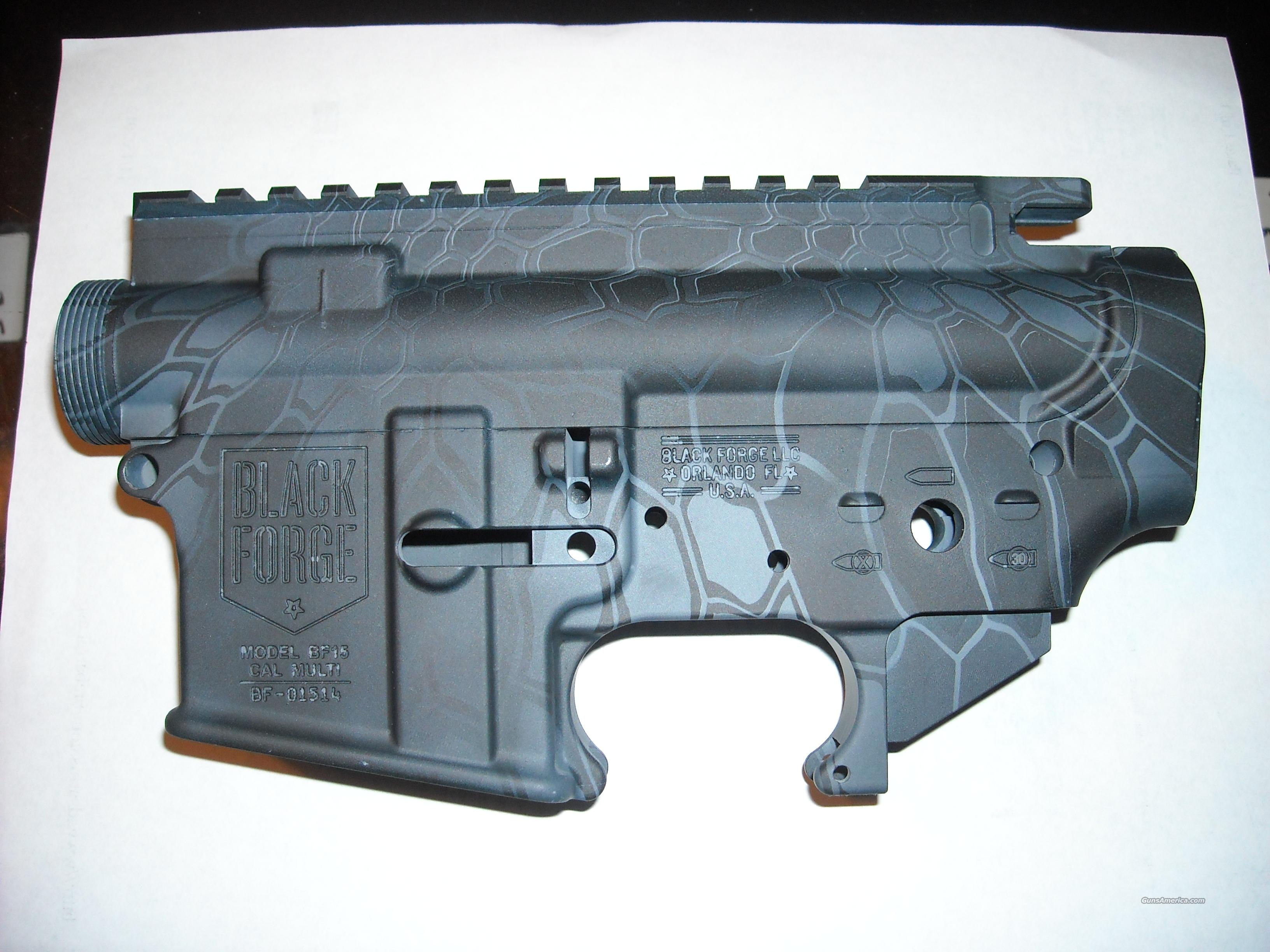 Black Forge Stripped AR15 Upper / Lower Receive... for sale
