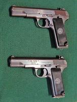 Pair (2 ea) Zastava M57 TT Pistols, each with leather holster, bore brush, extra mag!! 7.62x25mm