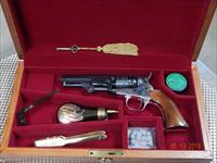 Colt BP 1849 Pocket Revolver Set, 3rd Gen Signature Series, Wood Case + Extras!