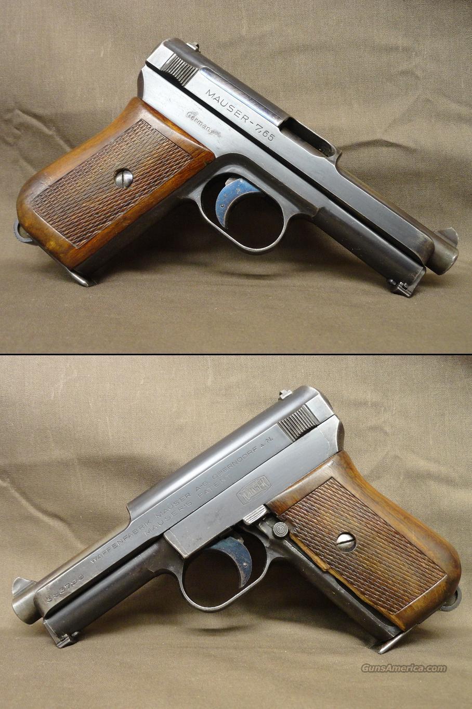 Mauser Model 1914 7 65mm ( 32acp) post WWI 1920s model