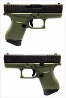 Glock 43 Semi-Auto 9mm Pistol In Battlefield Green