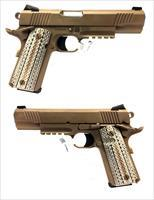 Colt 1911 Government M45 A1 In Zinc Brown Ion Finish With Rail