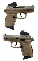 SCCY CPX-2 FDE 9MM Semi-Automatic Pistol W/ Crimson Trace Red Dot Sight