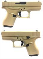 Glock 42 Semi-Automatic Pistol In Desert Tan