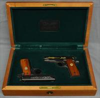 Colt government 380 engraved consecutive pair in presentation box