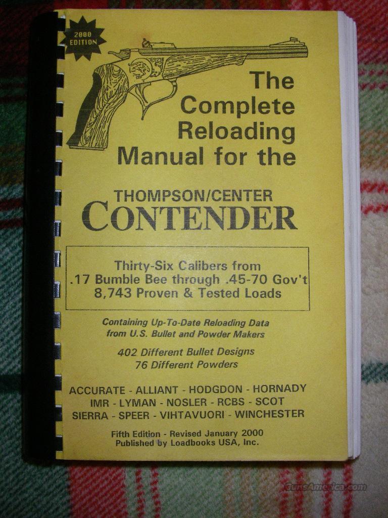 Contender Reloading manual