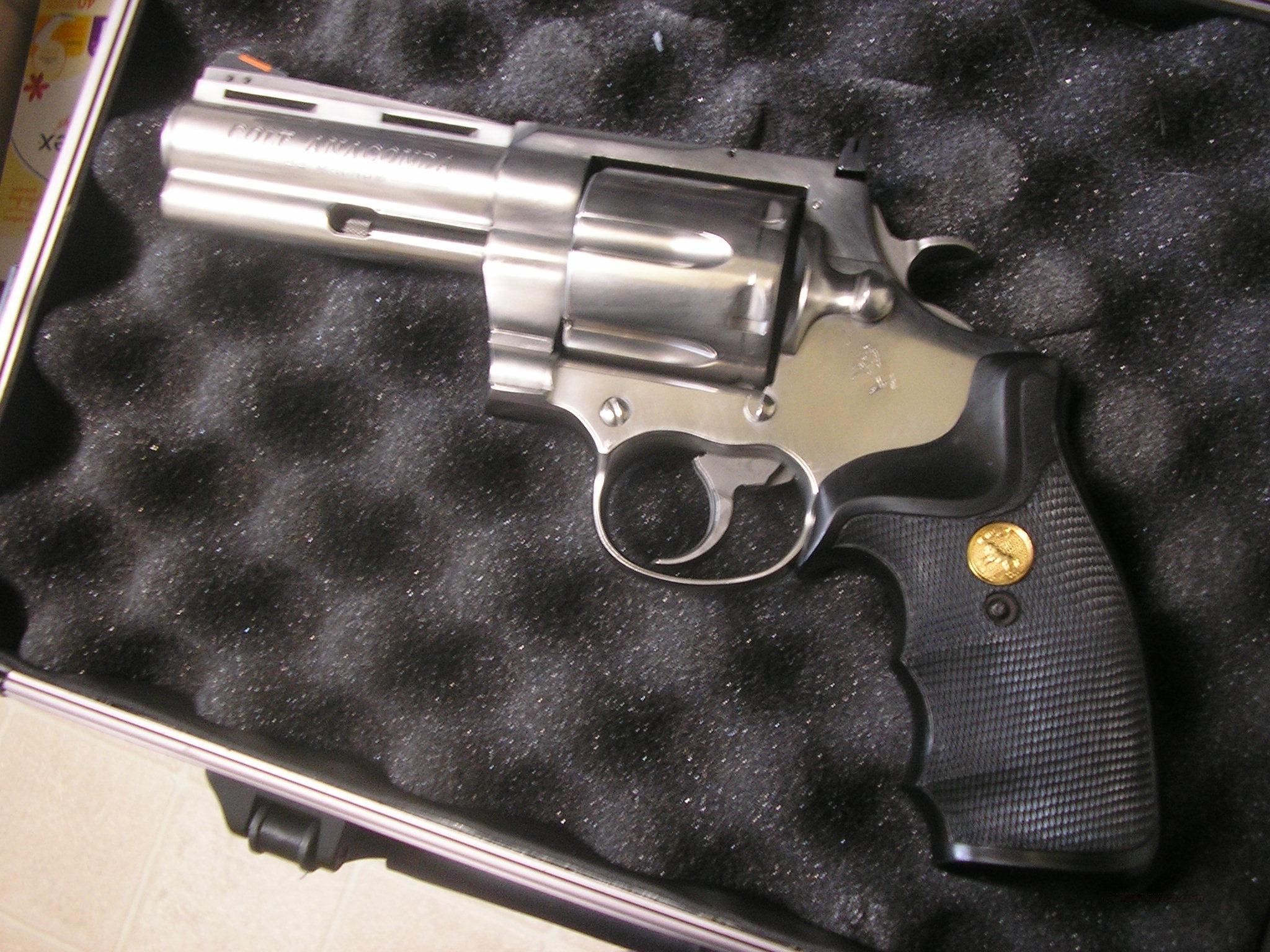 Colt Anaconda, 44 magnum, 4 inch, double action revolver
