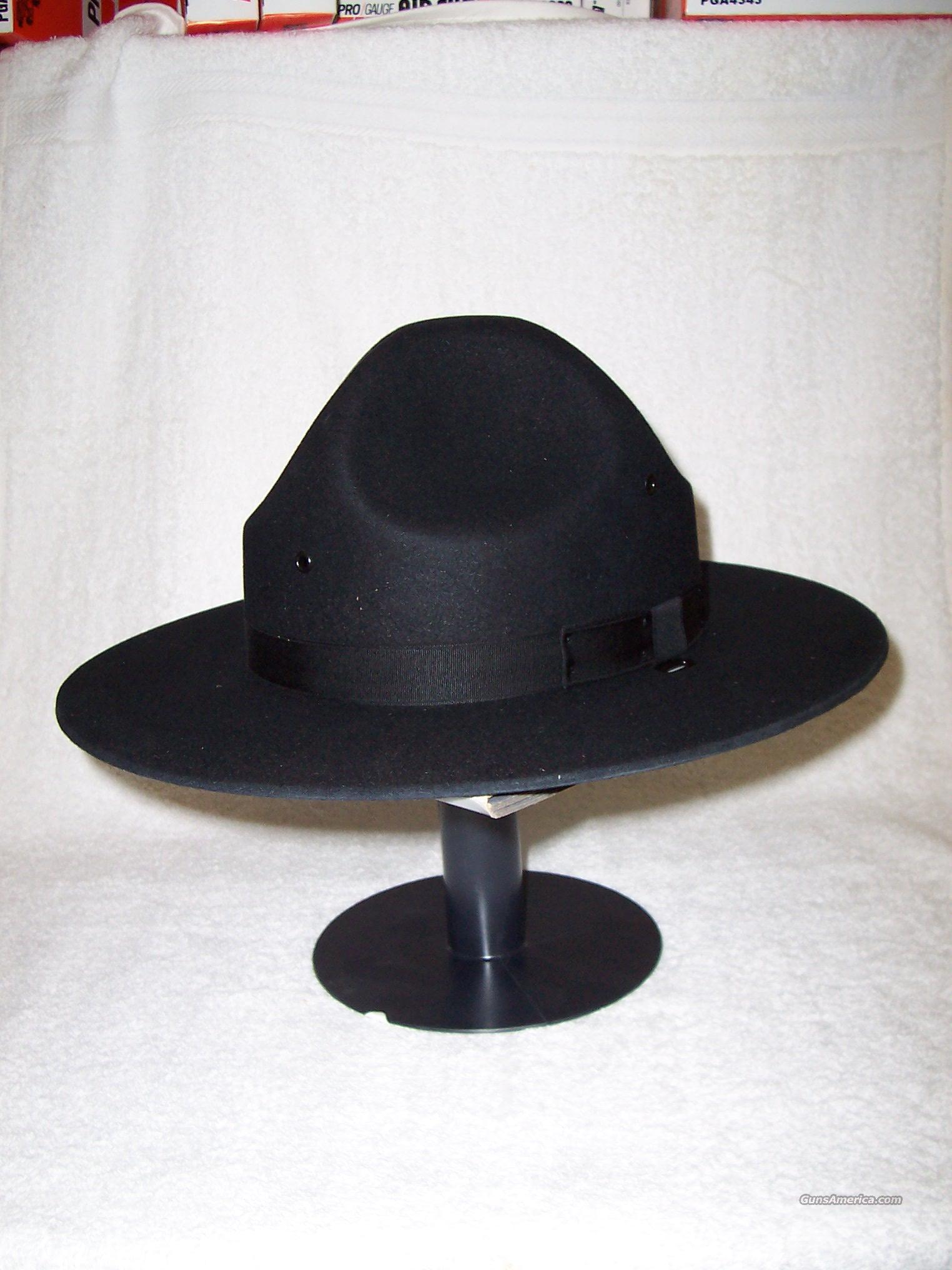 2e1a9e87 Stratton F-40 Felt Campaign/MP Hat Black for sale