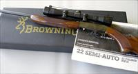Browning Semi-Auto Takedown 22 LR with Mounts and Scope