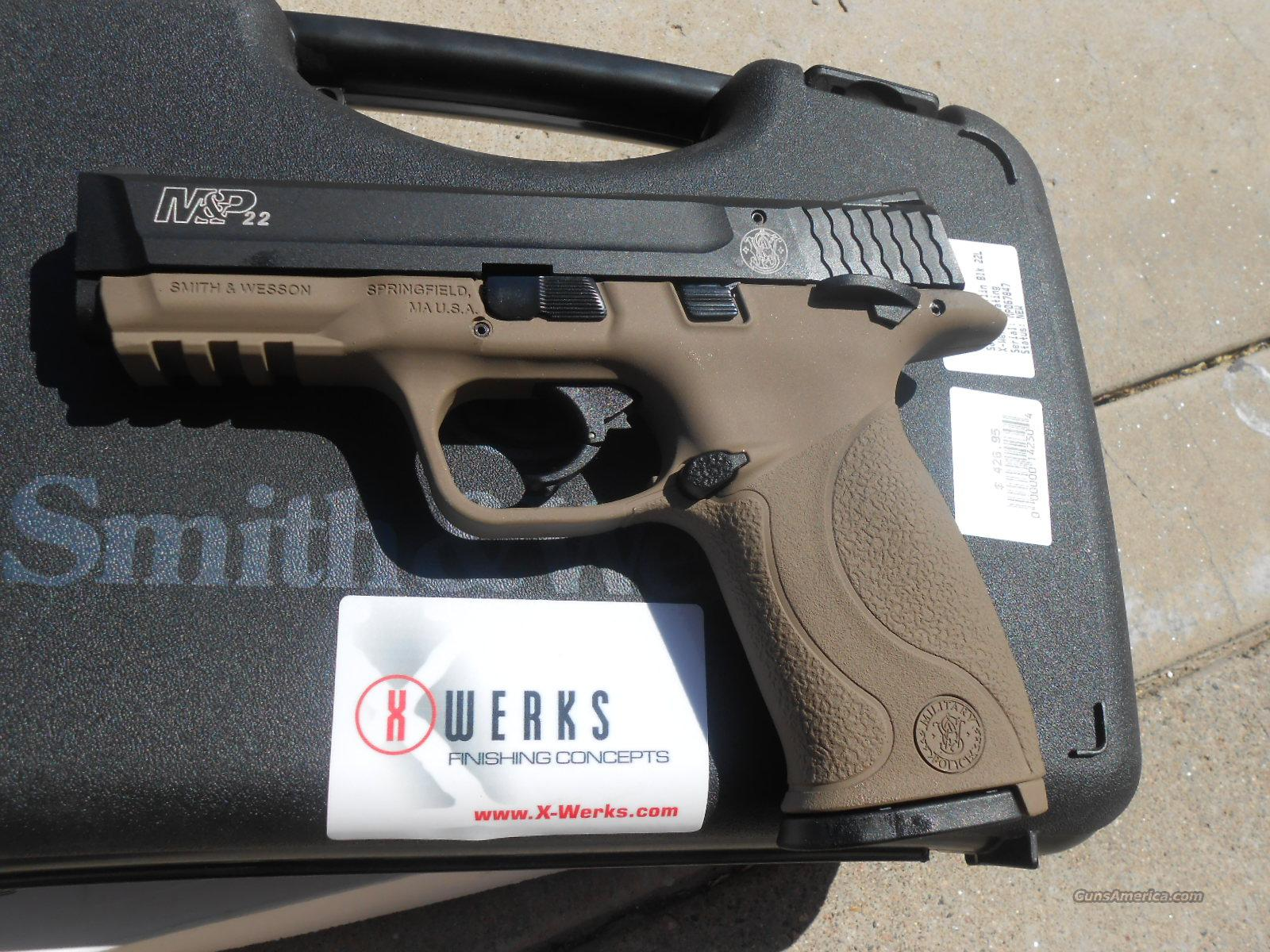 Smith Amp Wesson M Amp P 22 Lr X Werks Magpul Fde New For Sale
