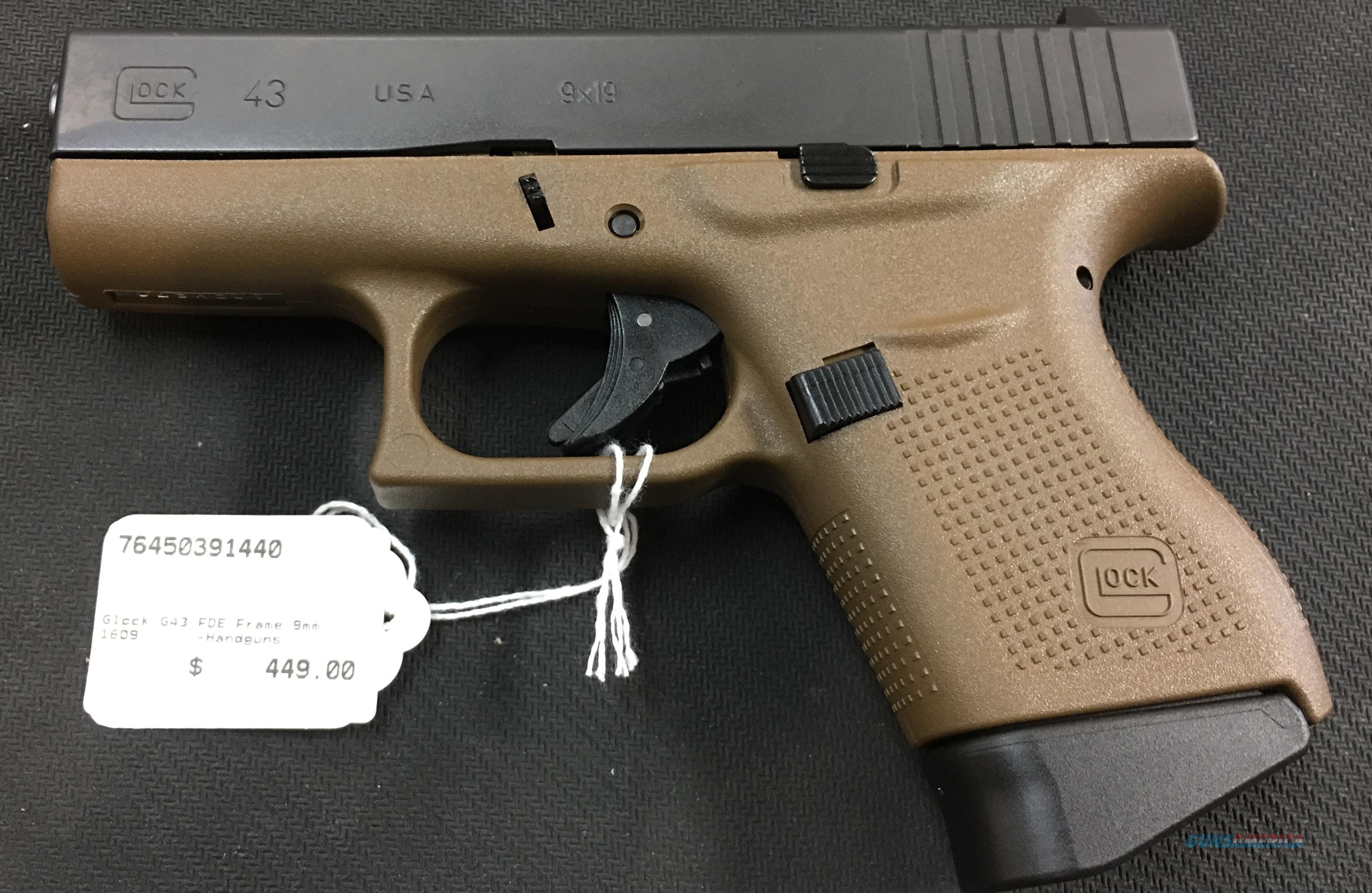 Glock 43 FDE Frame 9mm NIB NO CC FEES