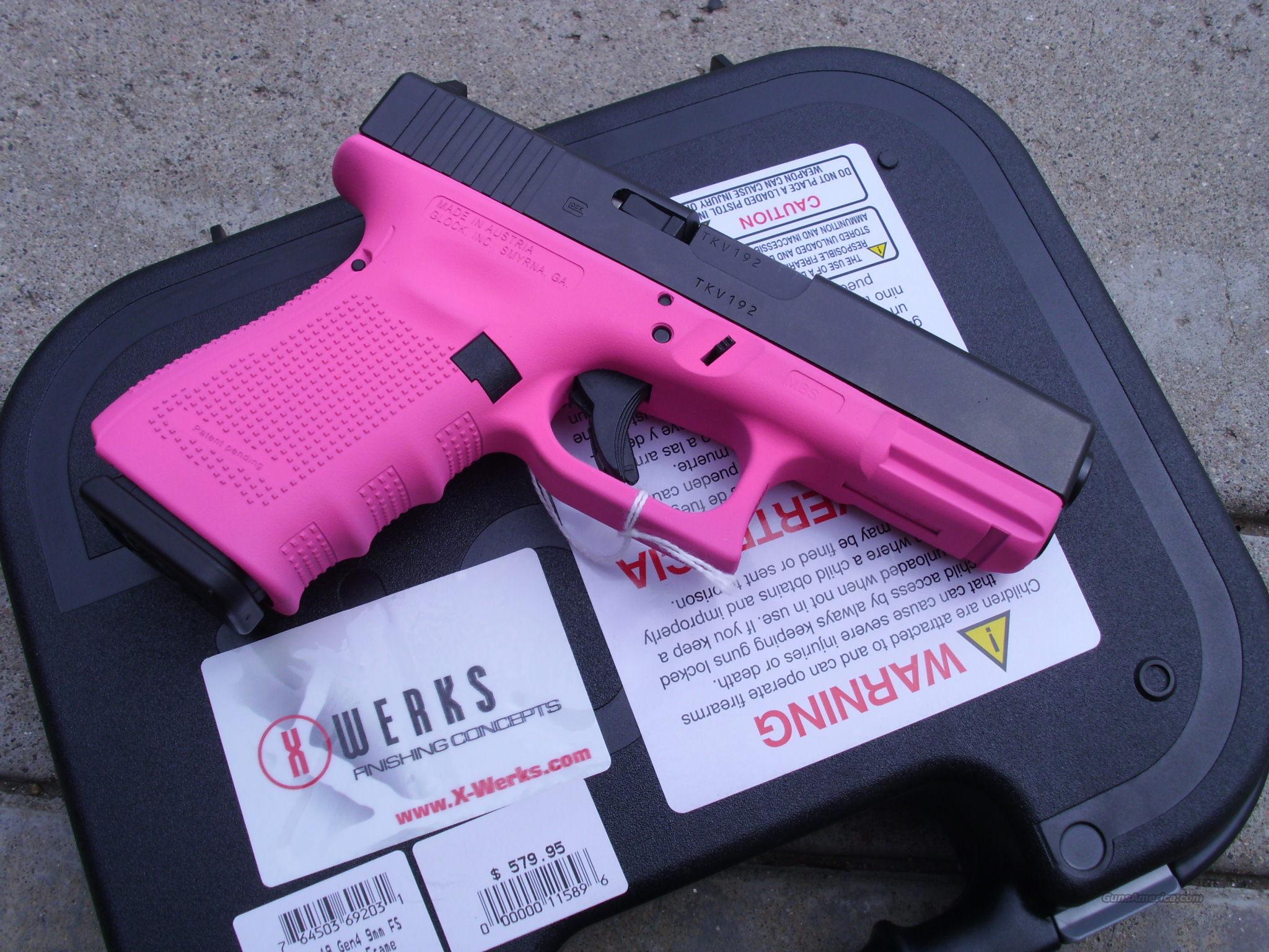 Glock 19 Gen 4 9mm X Werks Prison Pink Cerakote For Sale Parts Take Down Pinterest 4223963