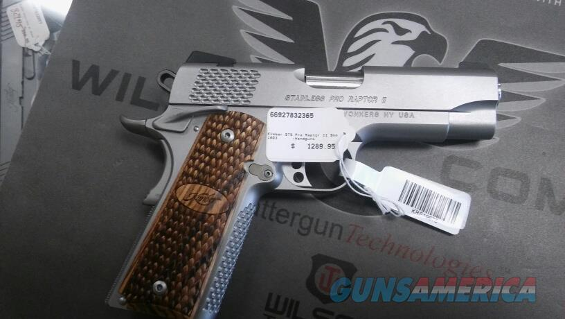 Kimber Stainless Pro Raptor Ii 9mm Nib No Cc Fe For Sale