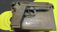 "BERETTA M9A3 9MM PISTOL FDE W/ NIGHT SIGHTS, (3) 17 ROUND MAGAZINES, 5.2"" THREADED BARREL"