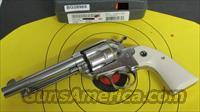 RUGER BISLEY VAQUERO KNVRB-35 HIGH GLOSS STAINLESS 357 MAGNUM (05130)
