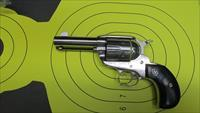 "RUGER VAQUERO BIRDSHEAD 45COLT 6 SHOT REVOLVER WITH 3.75"" BARREL HIGH GLOSS STAINLESS"