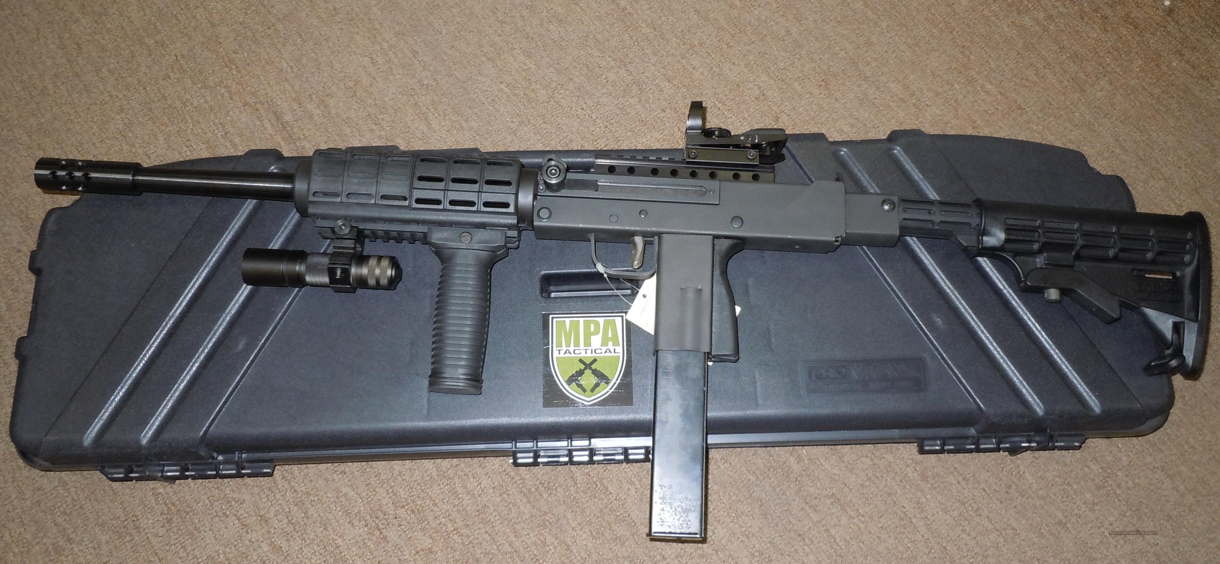 MASTERPIECE ARMS MPA20SST-X 9MM CARBINE W/ AR STYLE COLLAPSIBLE STOCK